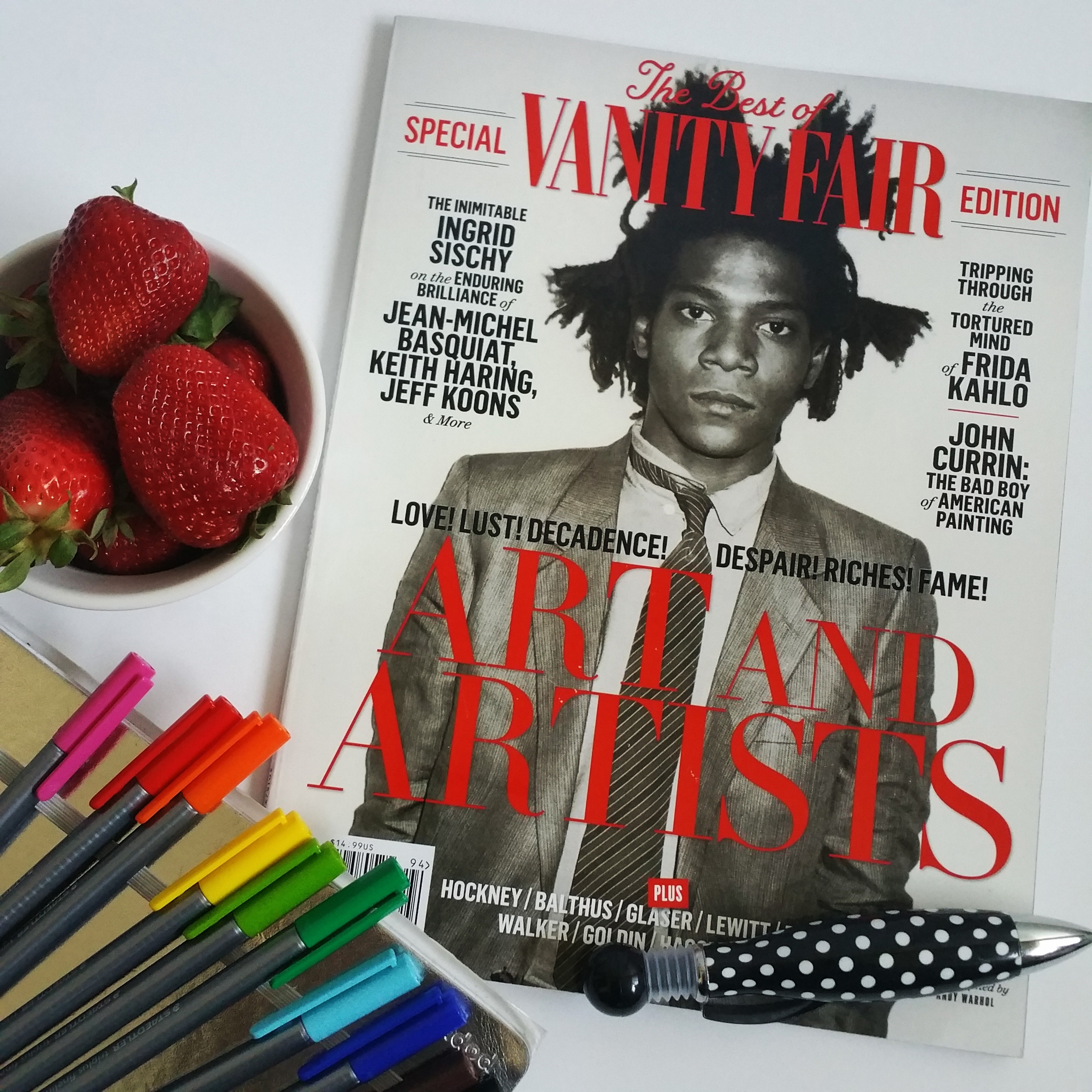 Finding Treasures in my design studio while doing Spring Cleaning Jean-Michel Basquiat